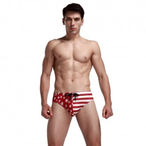 USA Flag Printed Beach Swimsuit Men Underwear