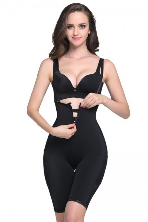 Curve Smoothing Front Zipper Latex Firm Control Body Shaper