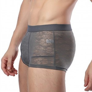 Gray Regenerated Fibre Transparent Mens Pouch Underwear