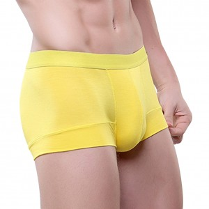 Yellow Soft Male Boxer Briefs