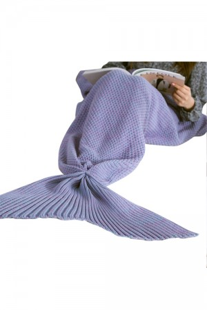 Illusion Warmth Knitted Sofa Mermaid Tail Blankets