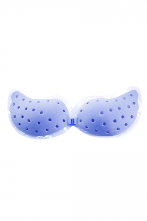 Breathable Blue Backless Strapless Bra Self Adhesive