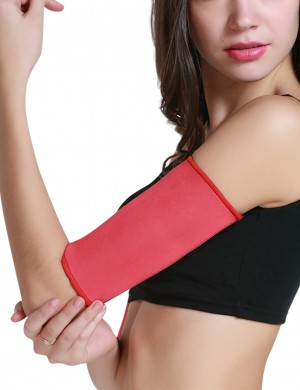 Red Repel Sweat Arm Shaper Neoprene Blood Circulation Boosting