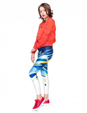Modest Simple Digtal Print Legging Tight Fit For Female