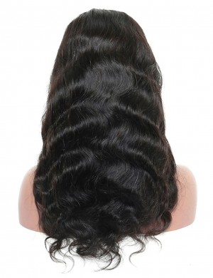 Body Wave Human Virgin Hair 14-30 Inch Lace Front Wig Natural Color