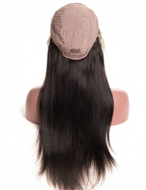 14-30 Inch Straight Lace Front Wig Natural Color Human Virgin Hair