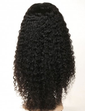 16-28 Inch Natural Full Lace Deep Curly Wigs Pre-Plucked Virgin Hair