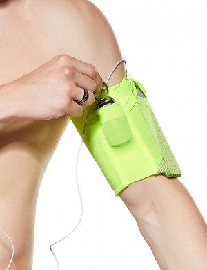 Ultra Hot Reflective Outdoor Mobile Phone Arm Bag Light Yellow Seamless