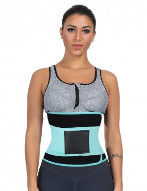 Light Blue Queen Size SBR Embossing Waist Shaper Plastic Bone