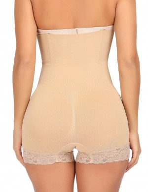Feminine Grace Nude 4 Steel Bones Lace Women Butt Lifter High Rise