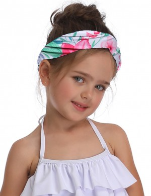 Sweet Fantasies Parent-Child Ruched Headband Leaf And Flower Pattern Sale Online