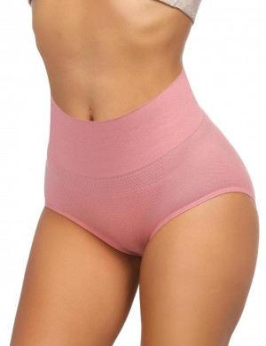 Flat Out Light Pink High Waist Seamless Butt Enhancer Warm Abdomen Stretch