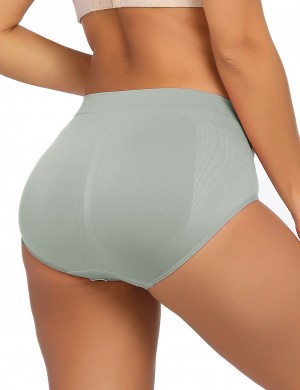 Shimmer Grey Plain Butt Enhancer Panty Mid Waist Tummy Training