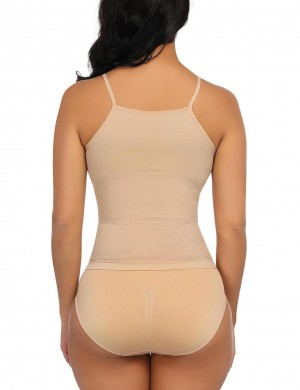 Spotlight Nude Anti-Curling Two Pieces Shaping Sets V-Neck Wrap Slimmer