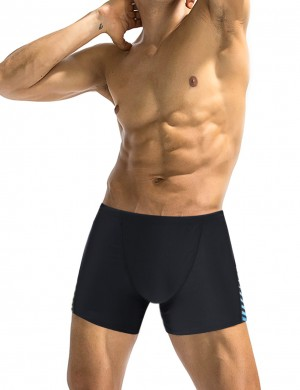 Sunkissed Black Side Print Male Swimwear Boxer Brief High Quality