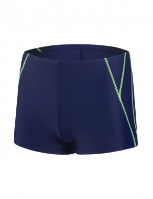 Sunkissed Male Swimwear Square Cut Boxer Brief For Poolside Days