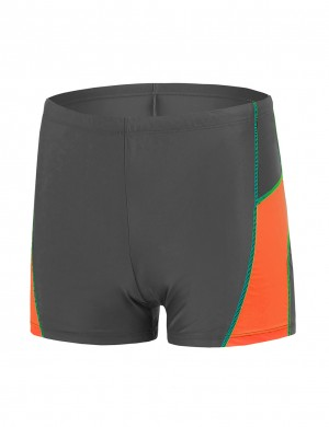 Young Boy Swim Square Leg Male Trunks Large Size Elegance