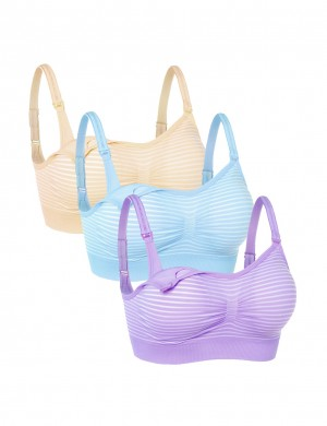 Affordable 3-Pack Wireless Widen Maternity Bras Smooth