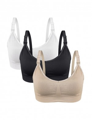 High Quality 3-Pack Maternity Bras Open Front For Ladies