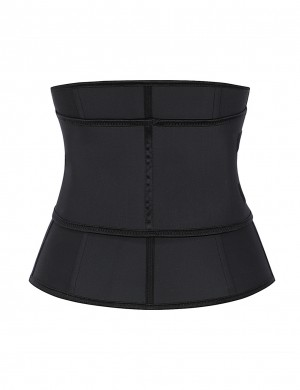 Black Lower Back Adjustable Waist Training Latex Shaper Brace Underwear