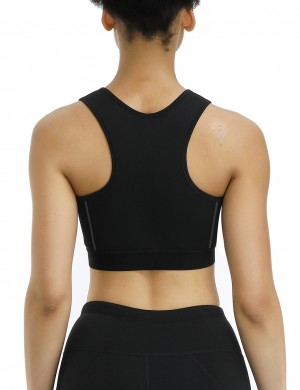 Everyday Shaping Black Wide Straps Wireless Neoprene Sport Bra