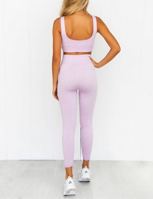 Curvy Purple Solid Color Square Neck Sweat Suit Slim Fit
