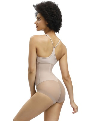 Sexy Apricot Butt Enhancer 3 Rows Hooks Sheer Mesh Intant Shaping