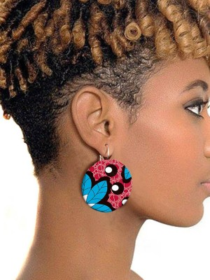 Fashion Casual African Style Button Earrings