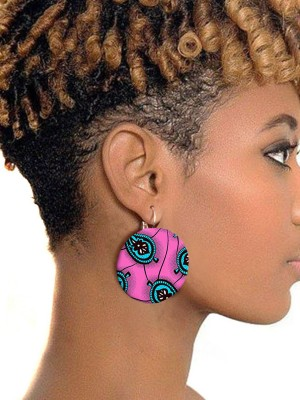 Causal African Printed Earring For  Young Ladies