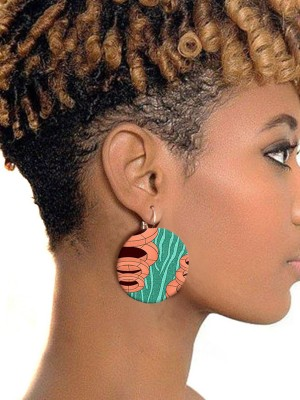 Colorful Fashionable Best-selling African Button Earrings
