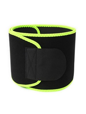 Green Waist Trainer Contrast Color Edge Sticker Potential Reduction