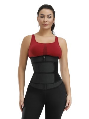 Contour Black 7 Steel Bones Big Size Latex Waist Trainer High Power