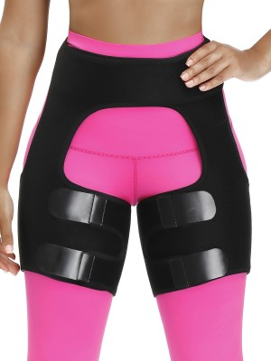 Figure Compression Black Neoprene Thigh Shaper Butt Lifting Instant Slimmer