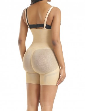 Kinetic Skin Color High Rise Full Body Shaper Straps Correct Posture