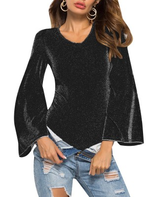 Appealing Black Round Collar Bodysuit Long Sleeve Sale Online
