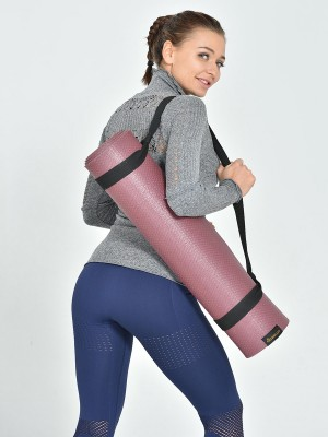 Stretched Gray Long-Sleeved Seamless Athletic Top For Female
