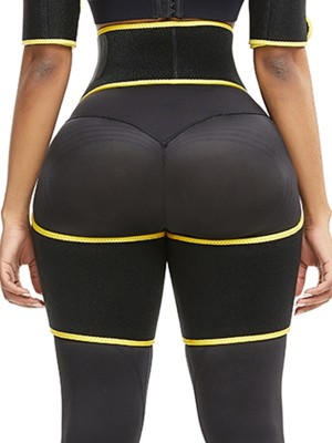 Figure Shaper Yellow Butt Lifting Neoprene Thigh Shaper Workout