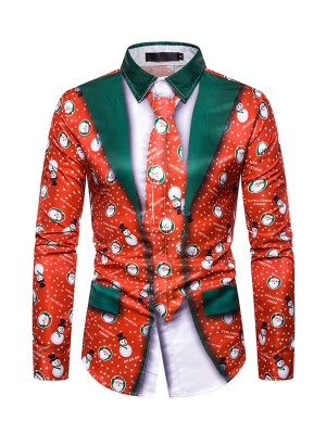 Dishy Male Santa Claus Top Front Buttons Simplicity