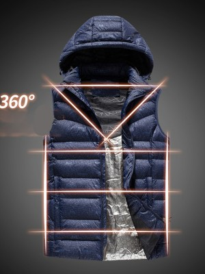 Blue Three-Speed USB Charging Heated Vest Lady Clothing