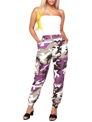 Multi-Function Camo Joggers Cargo Pants With Pockets Leisure Wear