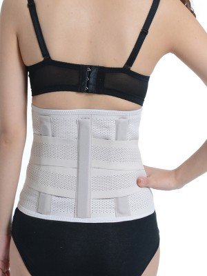 White 4 ABS Plastic Bones Cartilage Waist Slim Belt