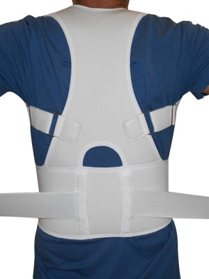 White Adjustable Shoulder Strap Vest Sport Fitness