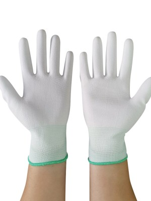 Elastic Green Anti Static Gloves Wear-Resistant