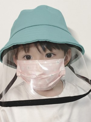 Interesting Blue Anti Saliva Fisherman Hat Child Protective