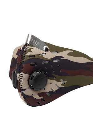 Skin-Friendly PM2.5 Camo Dust-proof Mask Activated Carbon