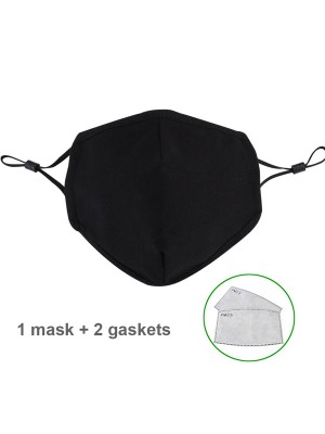 Soft Dustproof Face Mask With 2Pcs Filter Elements