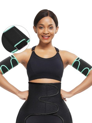 Elasticated Lgiht Green Neoprene Arm Slimmer Adjustable Sticker