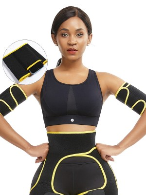 Breathe Freely Yellow Adjustable Sticker Neoprene Arm Shaper High Power