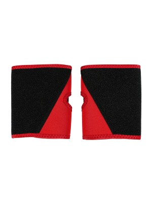 Red 2Pcs Colorblock Neoprene Arm Trimmers Compression Silhouette