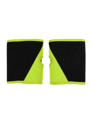 Glam Light Yellow Neoprene Two Pieces Colorblock Arm Shaper Slim